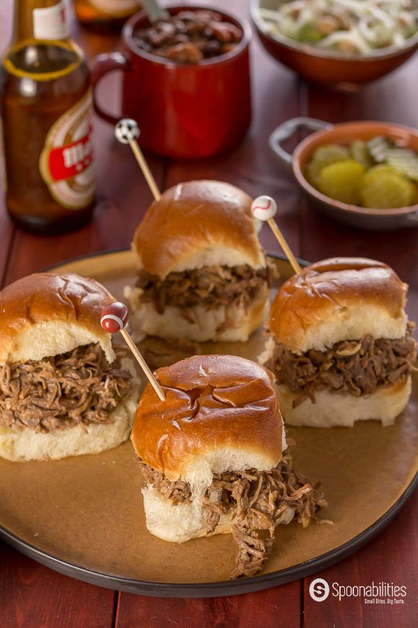 Salted Caramel Pulled Pork Slider is a perfect recipe for your summer BBQ weekends.