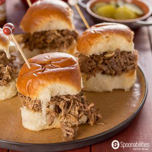 Salted Caramel Pulled Pork Slider