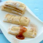 Crepes with Pear Honey Jam filling. Spoonabilities.com