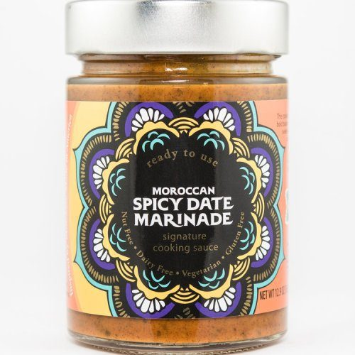 Moroccan Spicy Date Sauce Not for the timid tongue, this cooking sauce offers a bold balance of savory and sweet and then kicks it up a notch with a sharp, spicy edge.