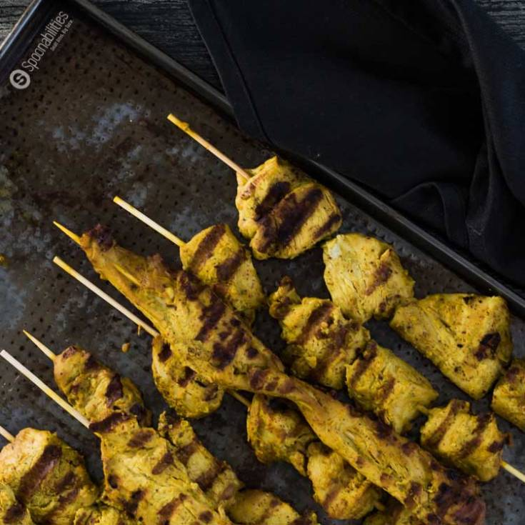 Grilled on a skewer, Chicken Satay is a popular Indonesian recipe. Make the marinade with Pure & Fresh Cilantro Cottonseed Oils by Acala Farms. Spoonabilities.com