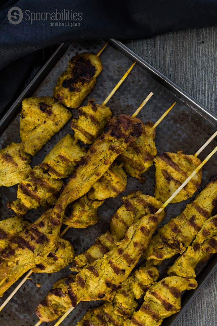 Easy Marinade for Chicken Satay. Grilled on a skewer. Serve as an appetizer with peanut sauce dip. We used our Pure & Fresh Cilantro Cottonseed Oils by Acala Farms. Spoonabilities.com