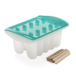 Sweet Creations Popsicle Maker Set with Wooden Sticks, Blue