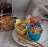 Apricot Cheesecake Muffins with Scandinavian Delights Apricot Fruit Spread