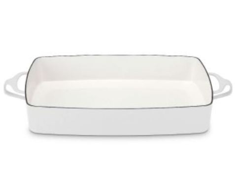 Make entertaining and kitchen preparation easy with the Kobenstyle® White Rectangular Baker.