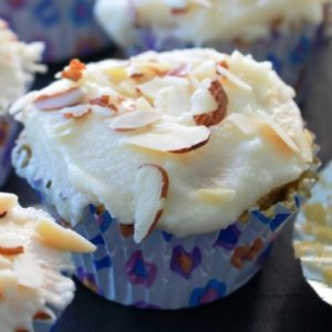 Fig Jam Filled Almond Cupcakes