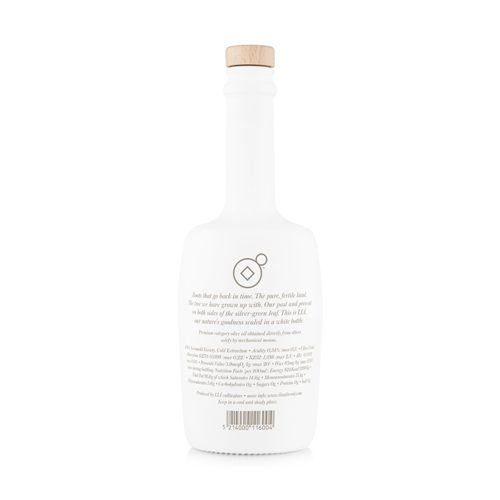 LIÁ premium extra virgin olive oil - back side LIA500. Product from Greece