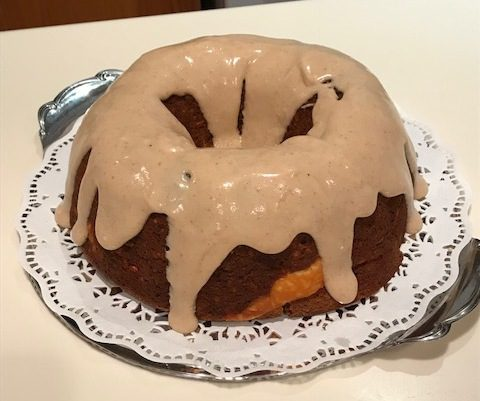 Pat Best makes Pumpkin Carrot Bundt Cake with Cream Cheese Filling