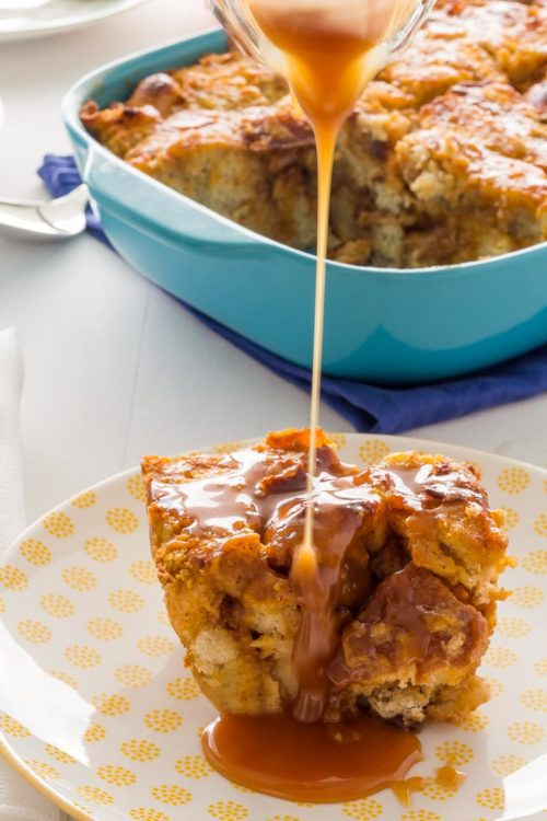 Pumpkin Bread Pudding is the way to celebrate that Pumpkin Season is here. Top with either Salted Caramel Sauce. Spoonabilities.com