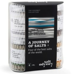 A Journey Of Salts - Sea Salts World Edition Gift Set by Salt Odyssey | Himalayan salt with turmeric & other spice, with oregano & sesame, Smoked in Beechwood & sea salt Fleur de Sel. Spoonabilities.com