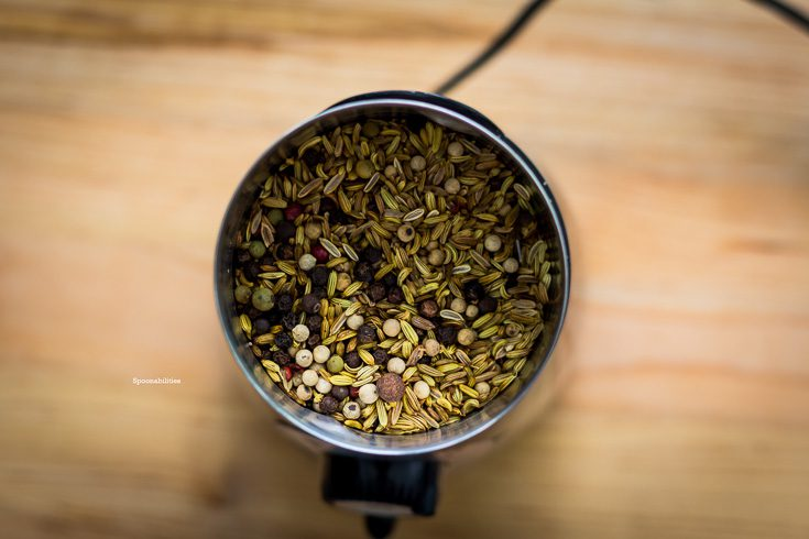 Grind the toasted fennel and peppercorn in the electric grinder. Seasoning for Pork Porchetta. Spoonabilities.com