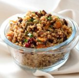 Quinoa Salad with Roasted Butternut Squash and Pumpkin Honey Mustard Vinaigrette