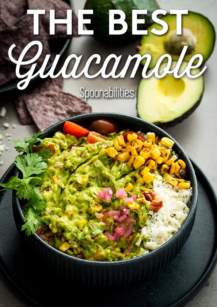 Best Charred Corn & Bacon Guacamole Recipe; Learn how to make the best guacamole recipe, how to keep guacamole from turning brown, and how to pick the perfect avocado. Spoonabilities.com