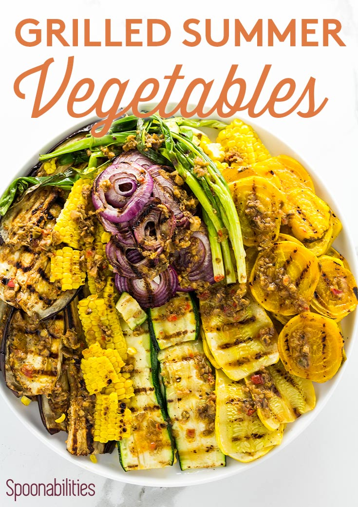 Grilled Summer Vegetables is an easy & healthy recipe. Learn how long to cook veggies on the grill, and the best vegetables for grilling. Two indoor grill gift ideas. Spoonabilities.com