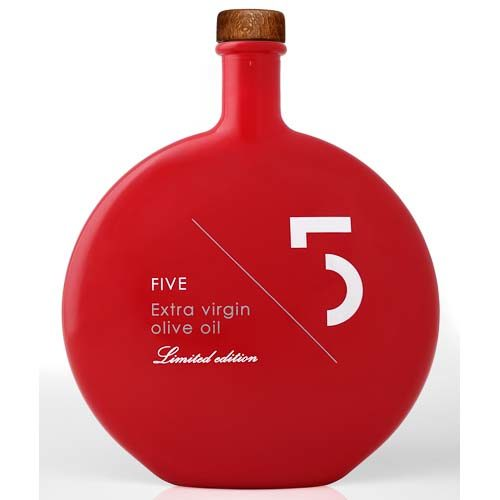 Five Extra Virgin Olive Oil Limited Edition Red Bottle