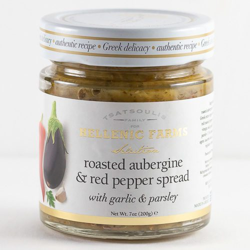 Jar of Roasted Aubergine Red Pepper Spread from Hellenic Farms
