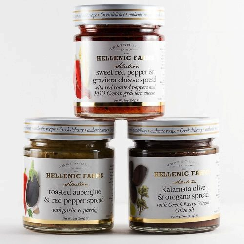Three Greek Appetizer Spreads from Hellenic Farms