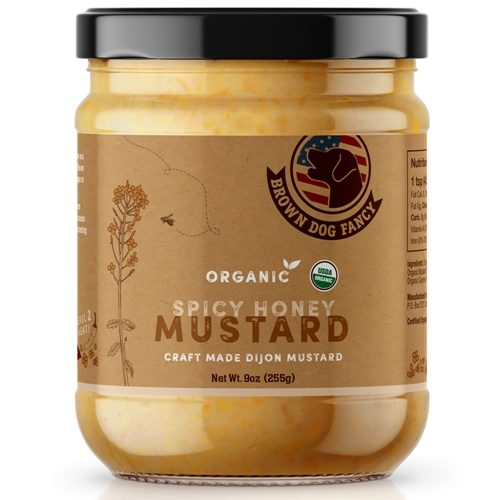 Organic Spicy Honey Dijon Mustard by Brown Dog Fancy Condiments