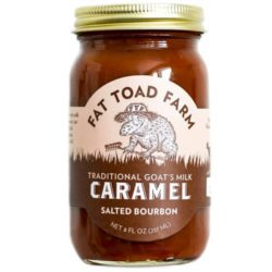 Caramel Salted bourbon Goats Milk Fat Toad Farm