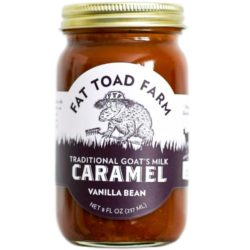 Caramel Vanilla bean Goats Milk Fat Toad Farm