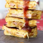 Monte Cristo Sandwich with Pumpkin Honey Mustard & Strawberry Jam. Spoonabilities.com