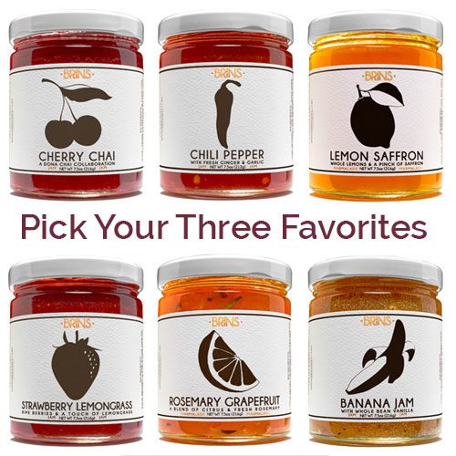 BRINS Jam Pick your three favorites three-pack of jams at Spoonabilities