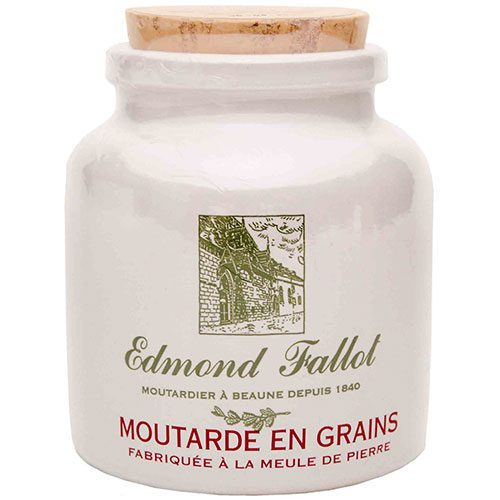 Old Fashion Grain Mustard in a Stone Jar Edmond Fallot