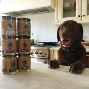 6 jars of Brown Dog Fancy Mustard and Brown dog