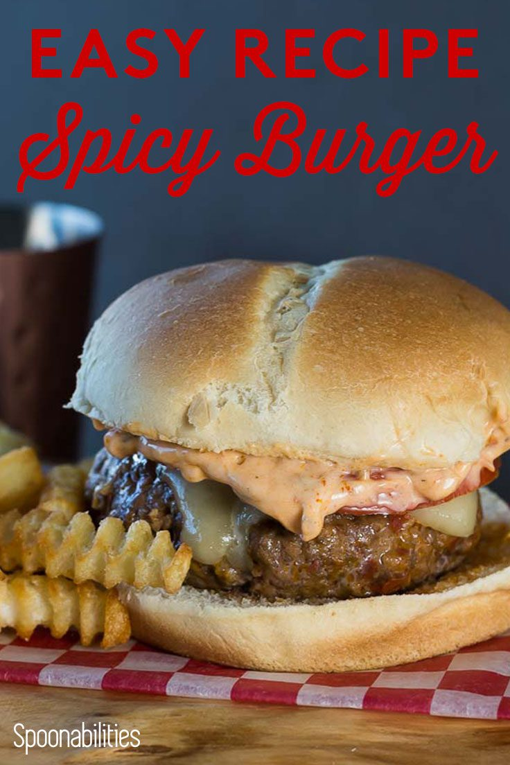Spicy Burger Recipe with Red Pepper Relish