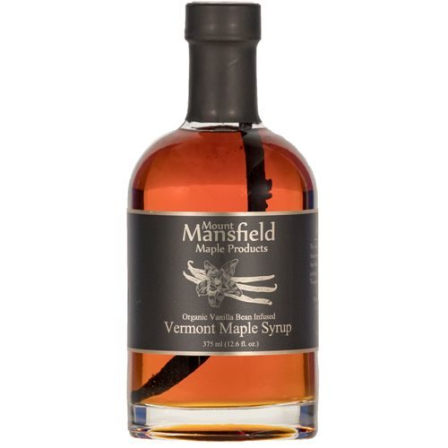 Organic Vanilla Bean infused Vermont Maple Syrup.