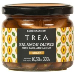 TREA Kalamon Olives with Basil & Lemon
