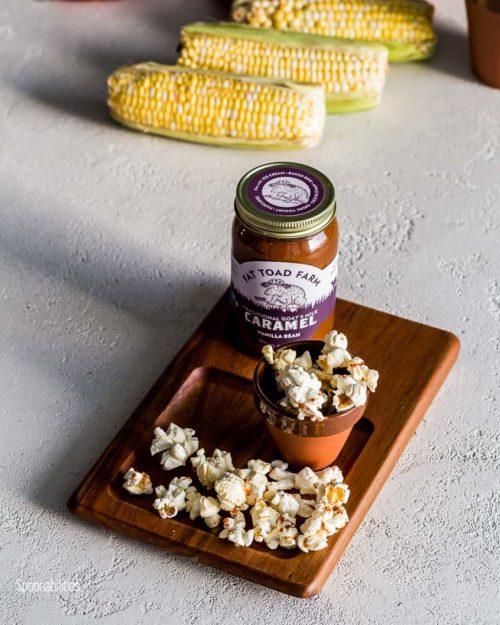 Vanilla Goat's Milk Caramel Sauce: Steeped with whole vanilla bean in copper kettles, this fragrant caramel is versatile and crowd-pleasing. Available at Spoonabilities.com