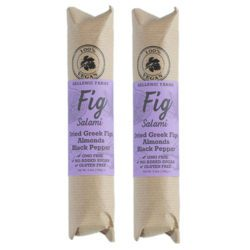 Vegan Fig Salami with Almonds & Black Pepper from Hellenic Farms.