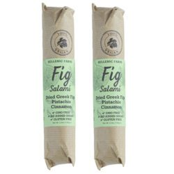 Vegan Fig Salami with Cinnamon & Pistachio from Hellenic Farms.