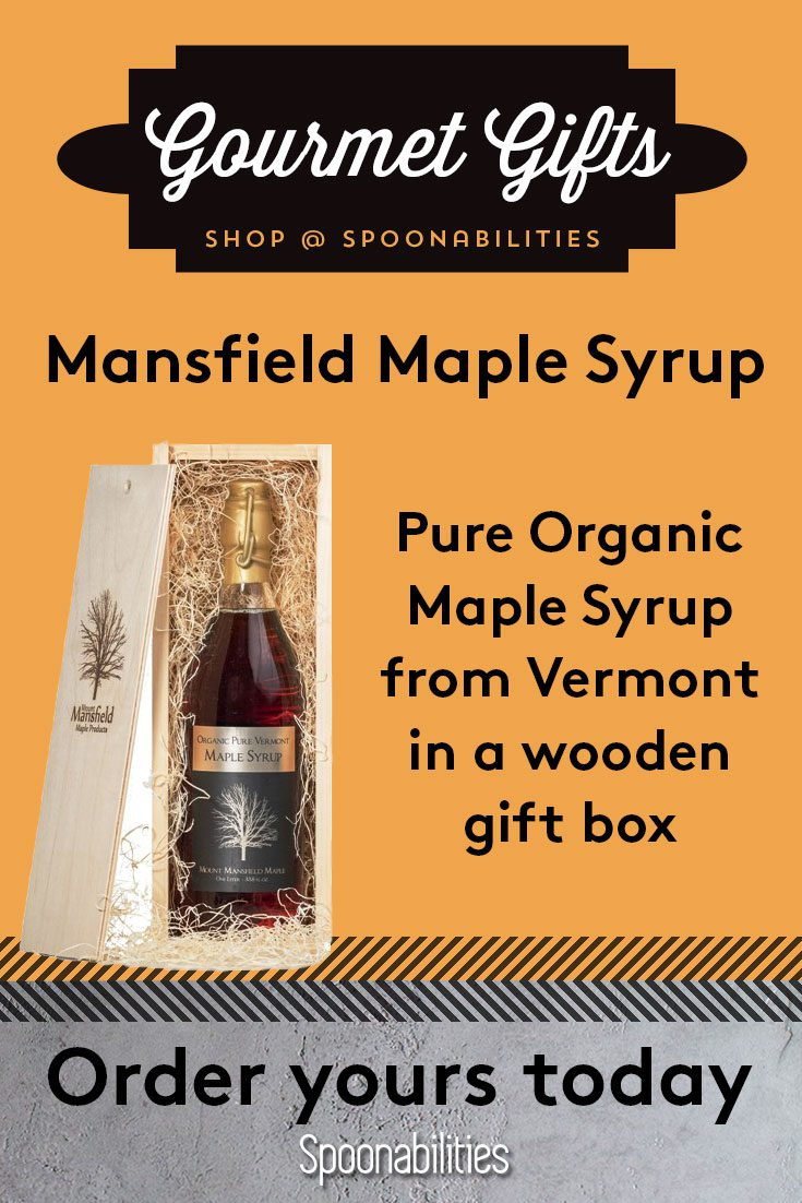 Pure Organic Vermont Maple Syrup in Gift Bottle
