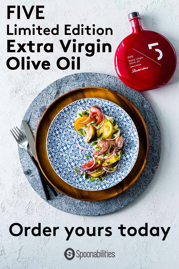 FIVE EVOO Limited Edition Red Bottle