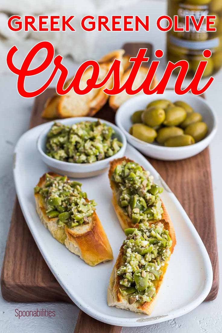 Greek Green Olive Crostini Recipe