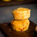two stacked Jalapeno Cheddar Cornbread muffins