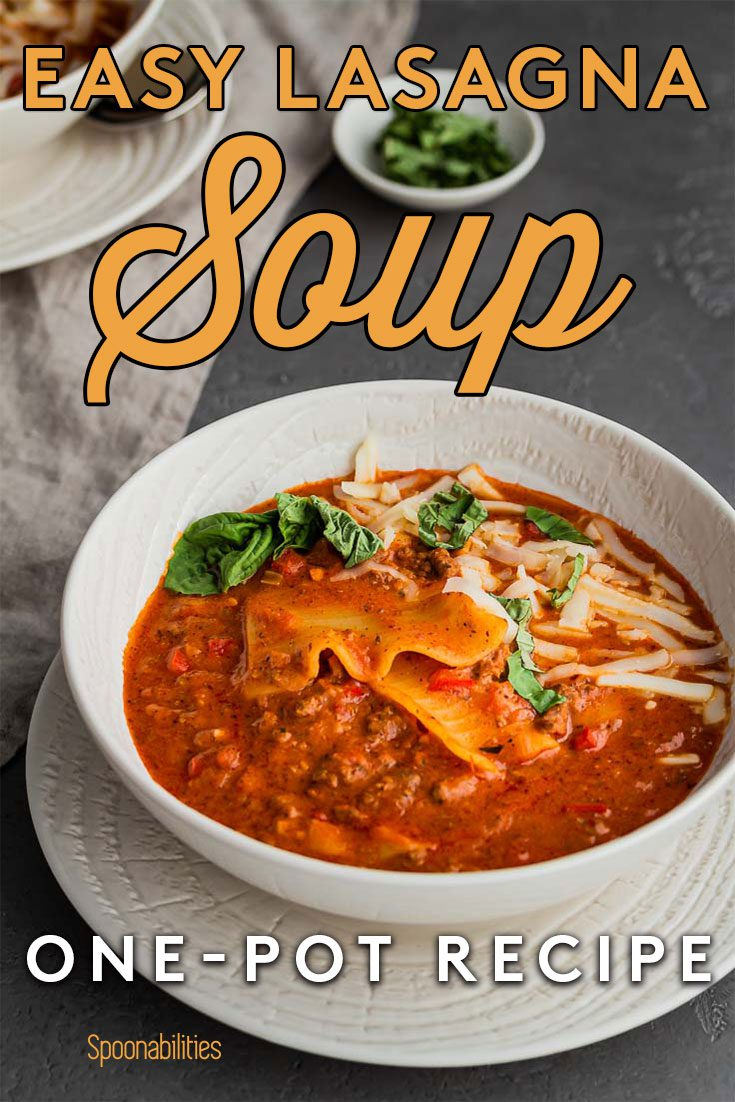 Easy One-Pot Lasagna Soup Recipe