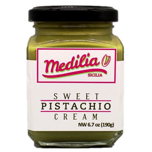 jar of Medilia Sweet Pistachio Cream
