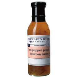 Hot Pepper Peach Bourbon Sauce adds an incredible depth and just the right amount of heat to any of your fish, chicken or beef dishes. It is delectable as a cheese topper. And even try it as a topping for vanilla ice-cream!