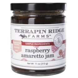 Raspberry Amaretto Preserve is made with tangy raspberries, almonds and vanilla. This is truly a delightful and tasty jam. Add to sautes chicken breast or to grilled cheese sandwiches. You will love it over bagels and cream cheese, pancakes and waffles. It is also an excellent jam for your favorite chocolate layer cake recipe and thumbprint cookies. Spoonabilities.com