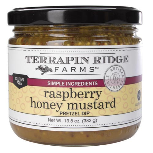 Raspberry Honey Mustard Pretzel Dip is made with honey, juice from tart raspberries, and hearty, coarse mustard. It adds a creative twist to ham, pork or poultry, and is amazing with hard cheeses and sandwiches. It makes a wonderful vinaigrette for your favorite salads, and of course, it is perfect for as a dip for pretzels.