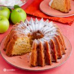 A bundt cake made of Granny Smith apples, olive oil, and cardamom. Find out more details about this recipe at Spoonabilities.com